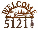 Fly Fisherman Address Welcome Sign