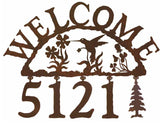 Hummingbird Address Welcome Sign