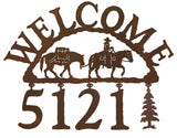 Pack Horse Address Welcome Sign