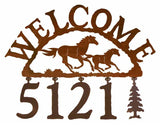 Wild Horse Address Welcome Sign