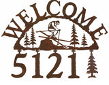 Skier Address Welcome Sign