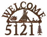 Tepee Address Welcome Sign