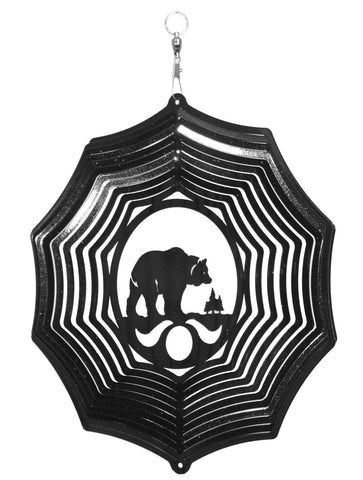 Bear Design Metal Wind Spinner
