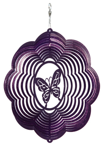 Butterfly Design Metal Wind Spinner