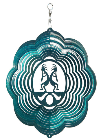 kokopelli Design Metal Wind Spinner