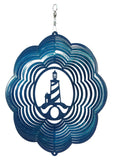 Lighthouse Nautical Design Metal Wind Spinner