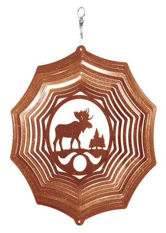 Moose Design Metal Wind Spinner