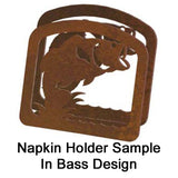 Black Bear Metal Napkin Holder