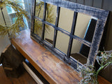 Homesteader 8 Pane Barnwood Window Mirror