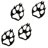 Wolf Paw Prints Metal Wall Art Set of 4