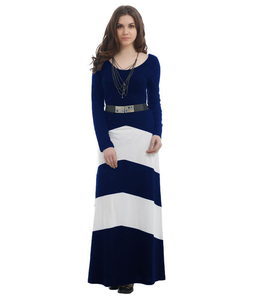 TEXCO NAVY BLUE TRENDY MAXI DRESS