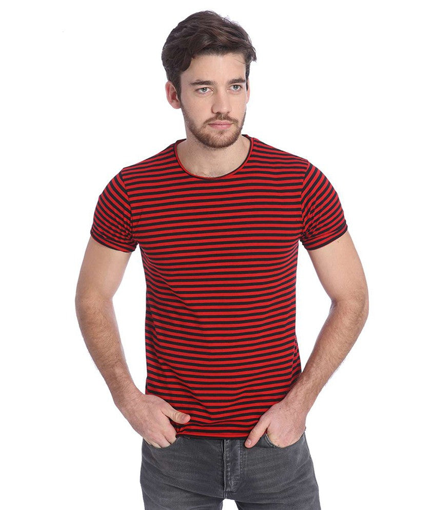 Red Half Sleeves T-Shirt