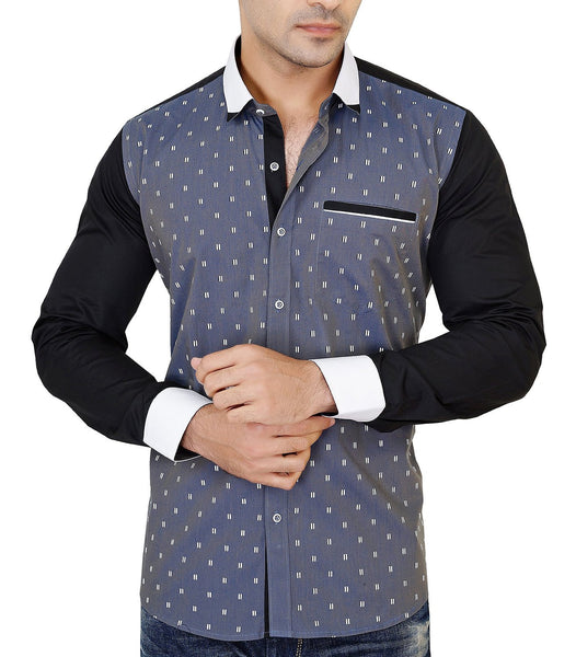 Grey Casual Party Wear Shirt
