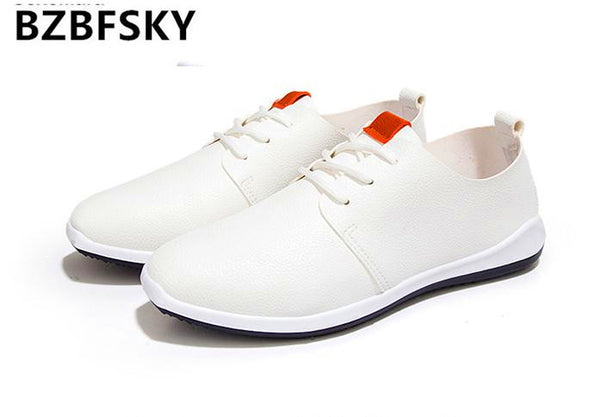 Breathable Men Casual Shoes  Fiber Leather Men Leather Shoes Zapatos Hombre 2017 Man Shoes Brand Casual Shoes Men Luxury