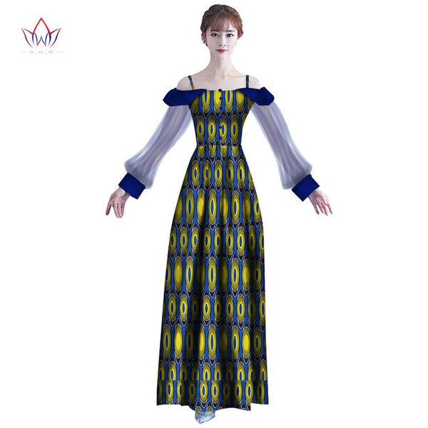 2018 New  africa Dresses for women dashiki Elegant Traditional African Clothing Vestidos Puls size Dresses for Girl  WY2398
