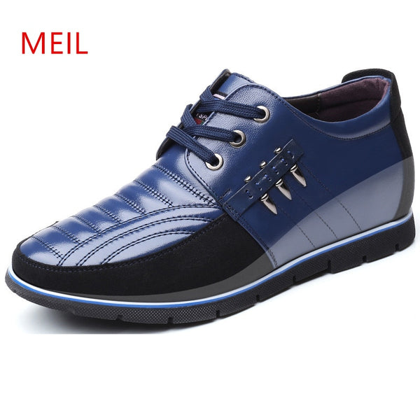 Brand Height Increasing 5 cm Man Shoes Leather Genuine Men Casual Shoes Male Invisible Elevator Shoes Man Comfortable Oxfords