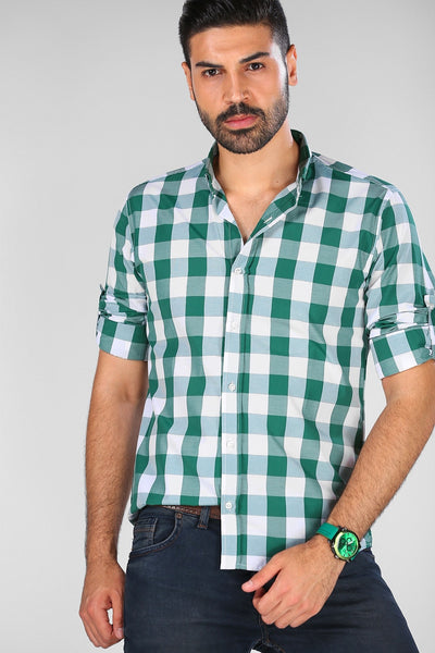 Men's Plaid Pattern Shirt