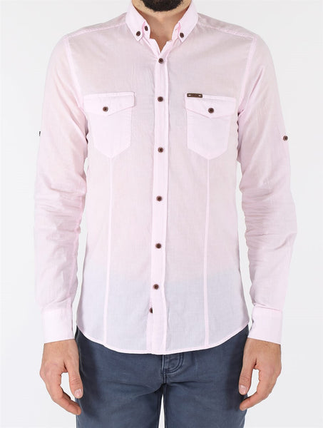 Men's Pocketed Pink Shirt