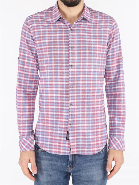 Men's Checkered Red Shirt