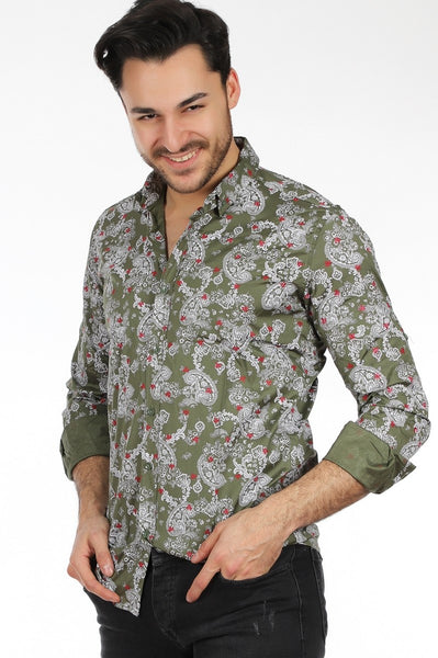 Men's Patterned Buttoned Shirt