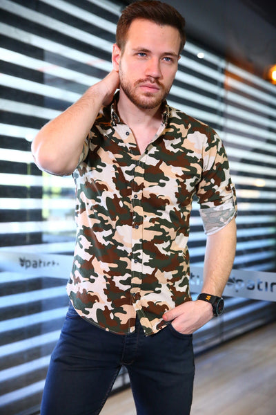 Men's Camouflage Pattern Shirt