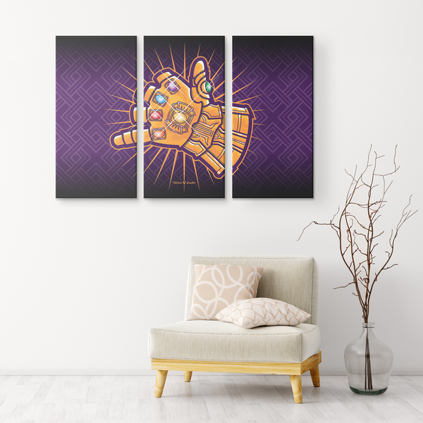 """Shaka Gauntlet"" 3 Canvas Print"