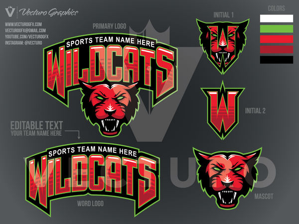 Wildcats Sports Logo Pack