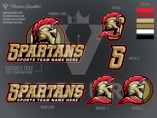 Spartans Sports Logo Pack