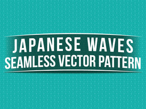 Japanese Waves Seamless Vector Pattern