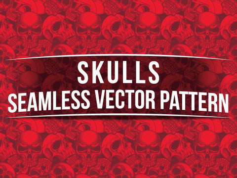 Skulls Seamless Vector Pattern