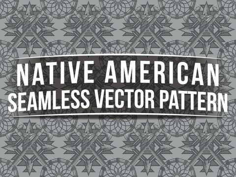 Native American Seamless Vector Pattern