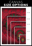 """Cuautli"" Aztec Single Canvas Print"