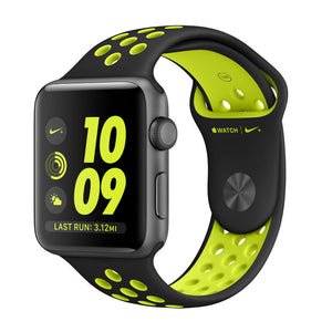 Apple Nike+ 42mm  Aluminum Case Sport Band MP0A2 (Black Volt)
