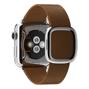 Apple Watch 38mm Stainless Steel Case Modern Buckle MLCL2 (Brown)