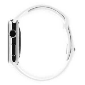 Apple Watch 38mm Stainless Steel Case Sport Band MJ302 (White)