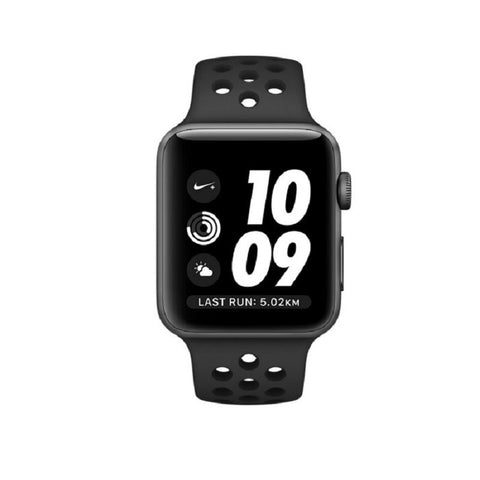 Apple Nike+ 42mm Space Gray Aluminum Case Sport Band MQ182 (Black)