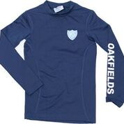 Navy Logo'd Base Layer Top