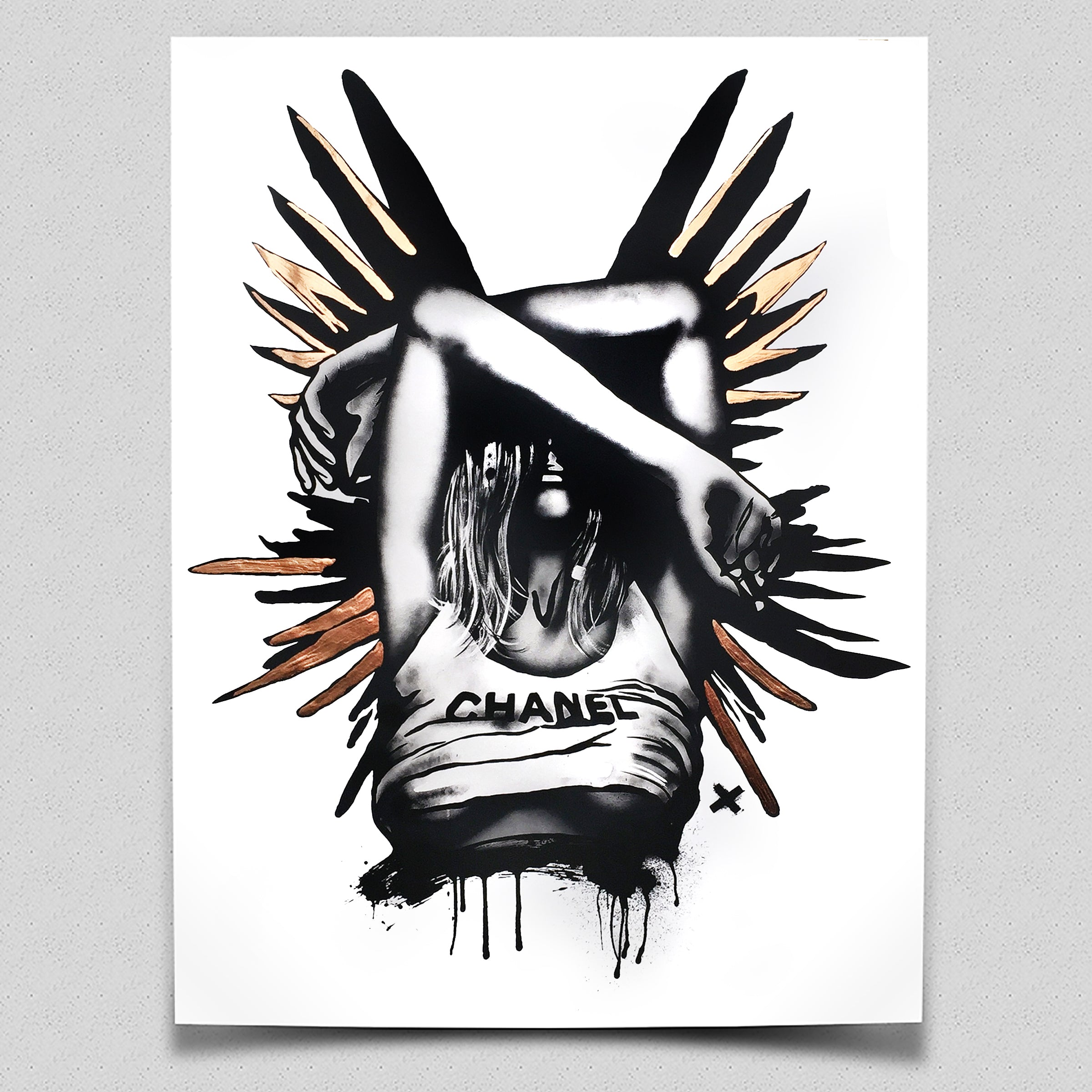 'CHANEL Wings (Copper)' - Limited Edition Art Print