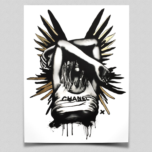 'CHANEL Wings (Gold)' - Limited Edition Art Print