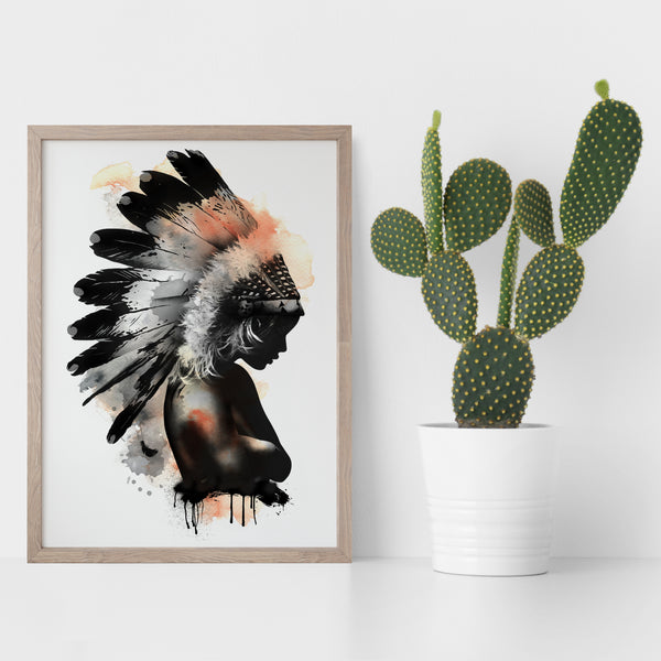 Washed Feathers - Limited Edition Art Print