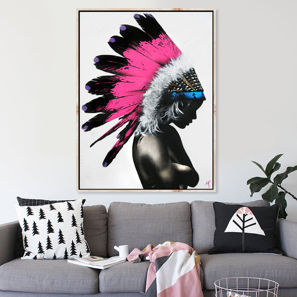Pink Headpiece - Original Painted Artwork