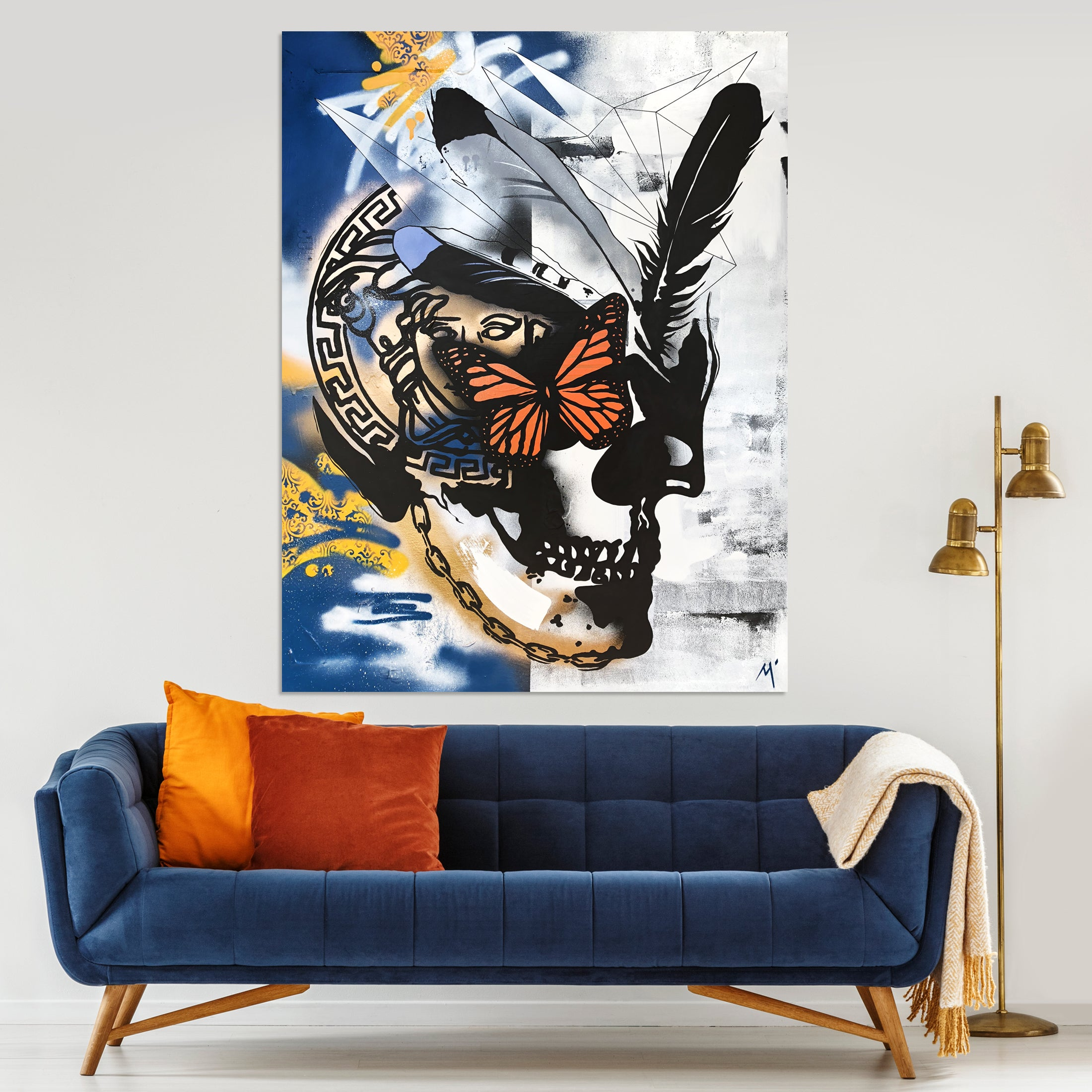 Fashion Royalty Skull - Original Painted Artwork