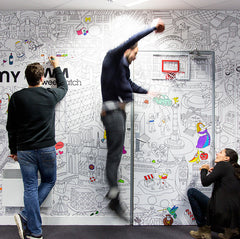 Giant coloring Wall in a communication agency