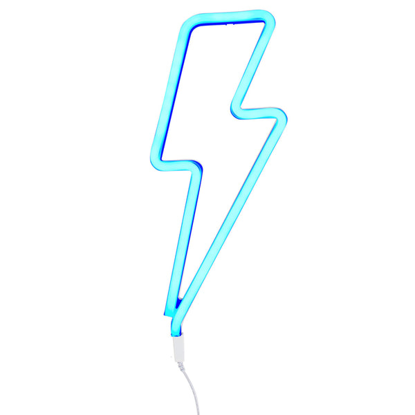Neon blue light bolt from A Little Lovely Company