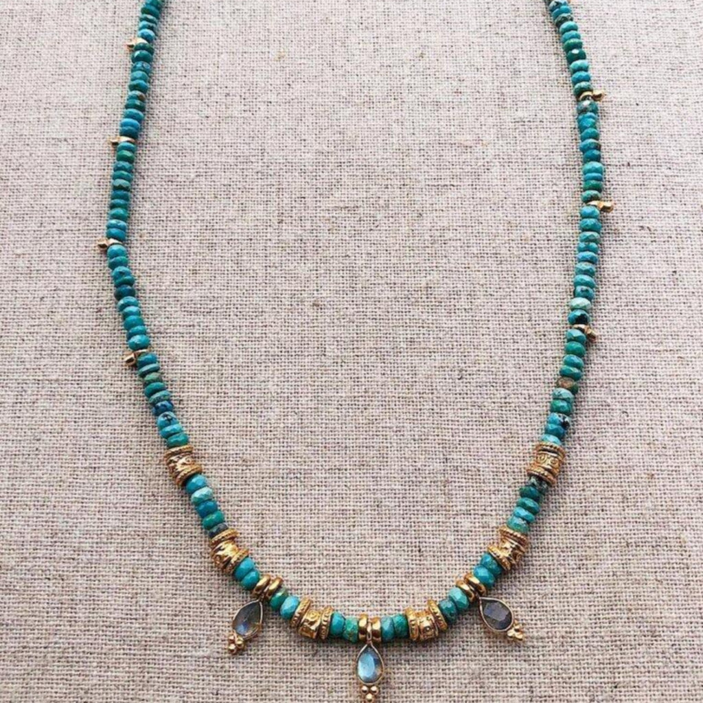 LULA <br/> Necklace <br/> Turquoise