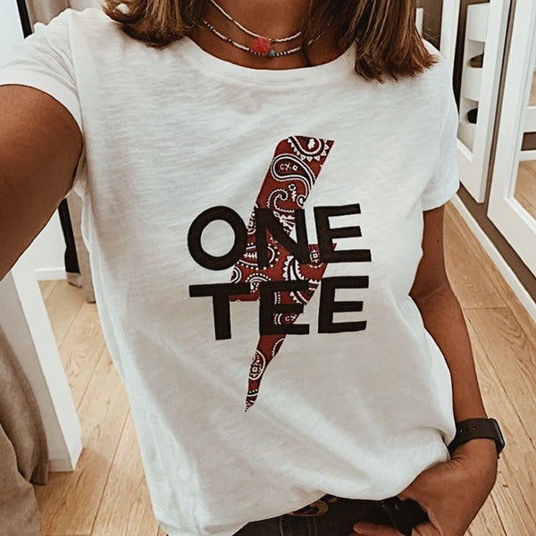 Ava T Shirt <br/> One Tee Word <br/> White
