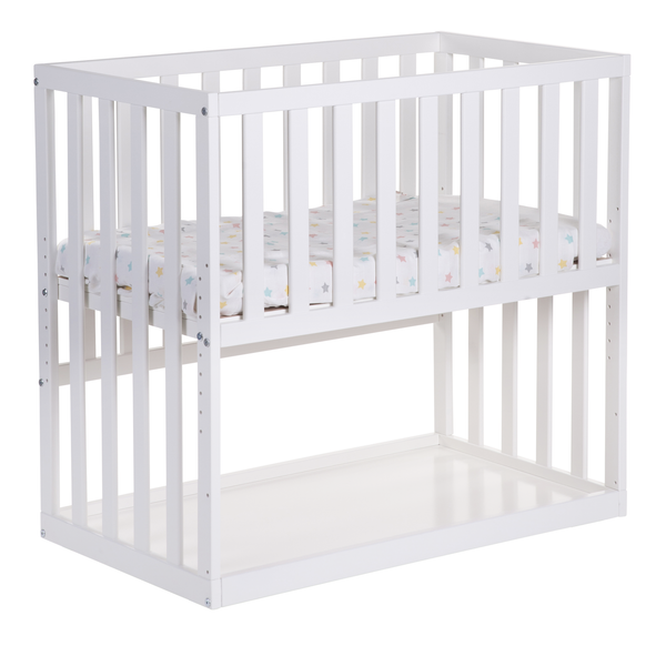 Bedside crib available in white, grey or natural