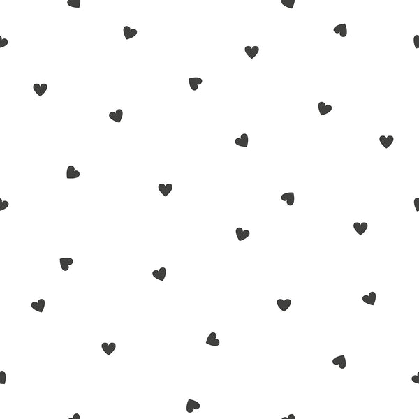 Wallpaper <br/> Black Hearts <br/> White