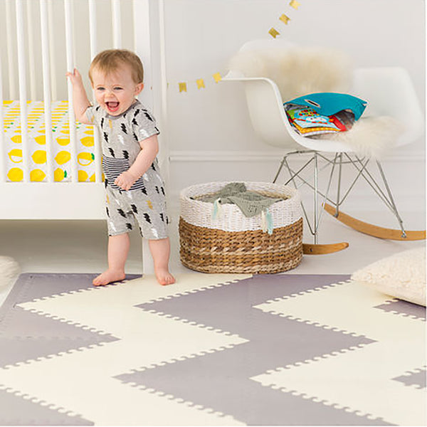 Playspot Geo Foam Floor Tiles <br/> Grey & Cream