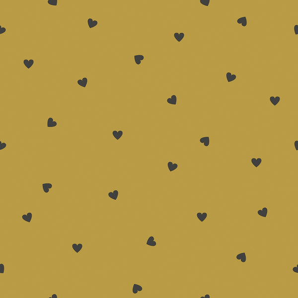 Wallpaper <br/> Black Hearts <br/> Mustard